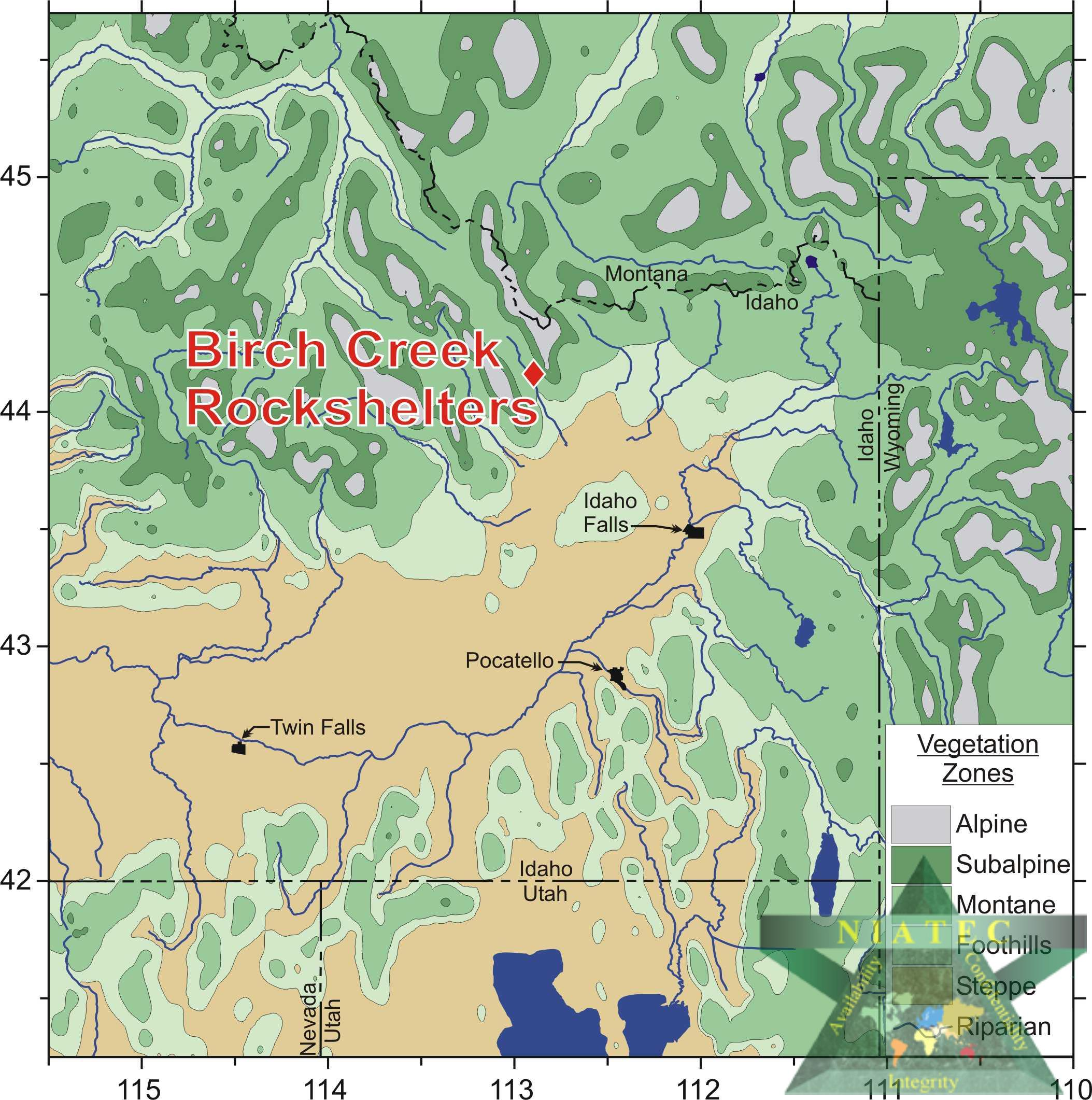 Image of Birch Creek Map